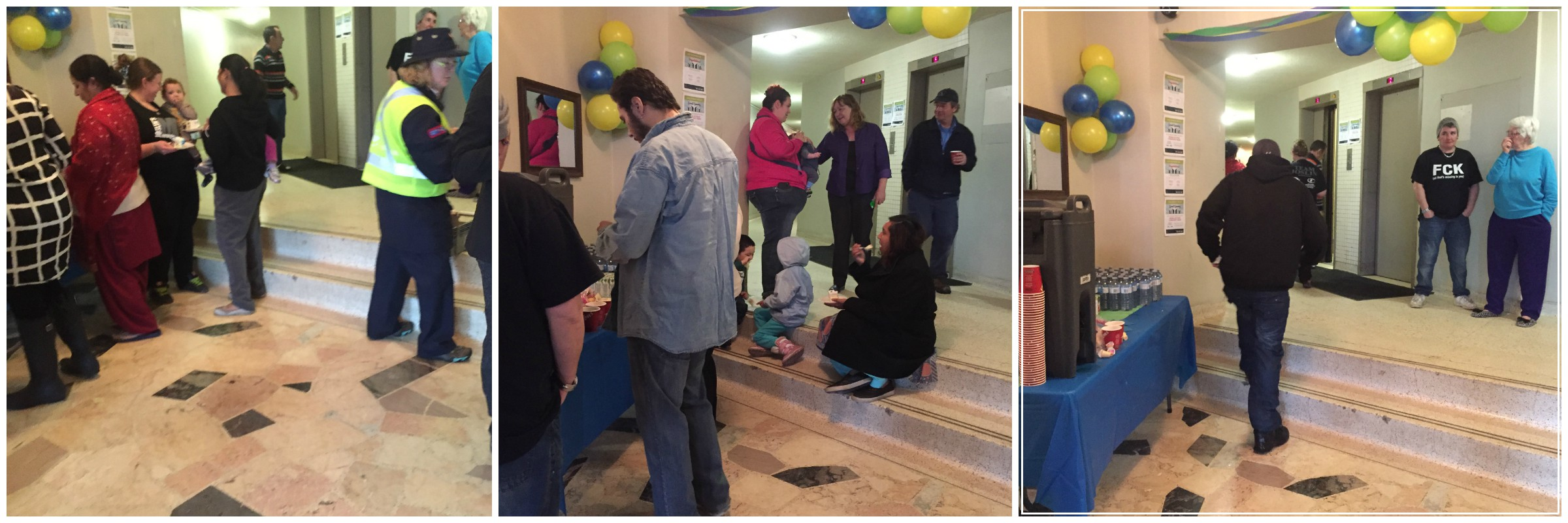 Residents enjoying the party and mingling with each other!