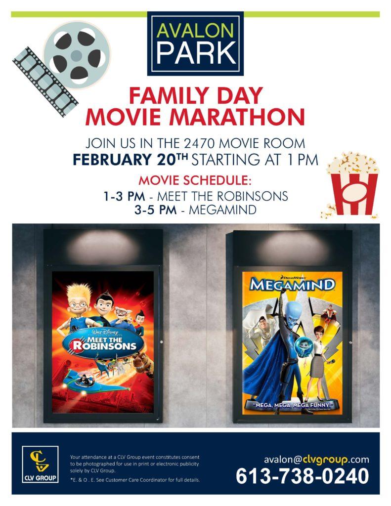 Family Day Avalon Movie Night