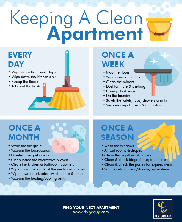 How To Keep Your Apartment Clean Clv Group